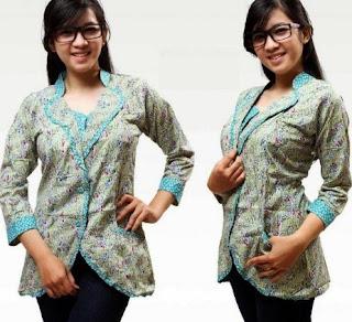 Model kemeja batik lengan panjang untuk remaja putri