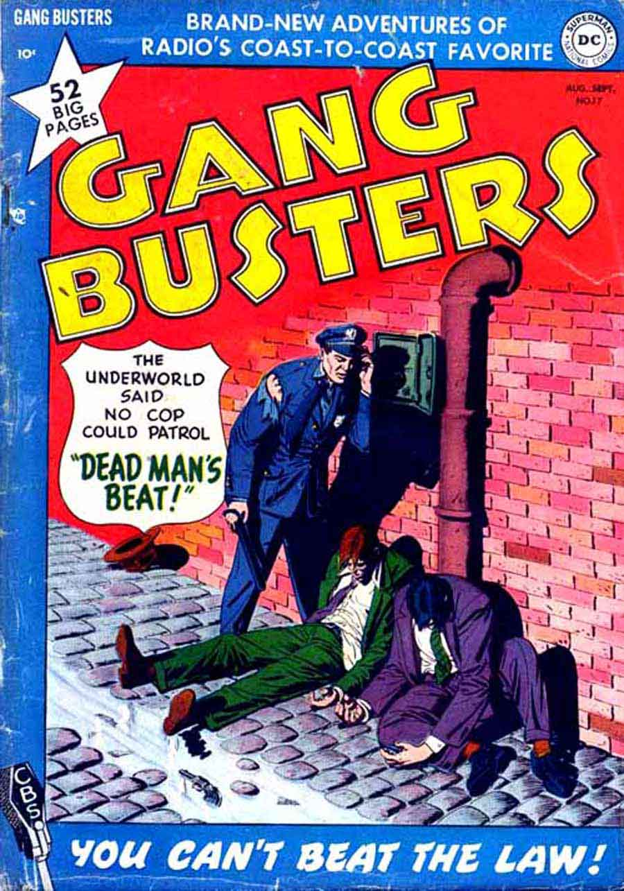 Gang Busters v1 #17 - Frank Frazetta dc golden age crime comic book page art