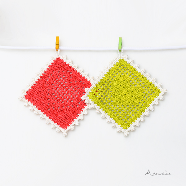 Free pattern: Heart crochet filet tablecloths by Anabelia Craft Design