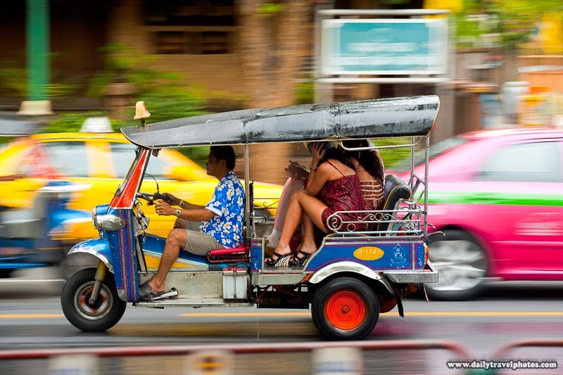 How to Visit Thailand on a Budget | The famous transportation in Thailand (Tuk-tuk)