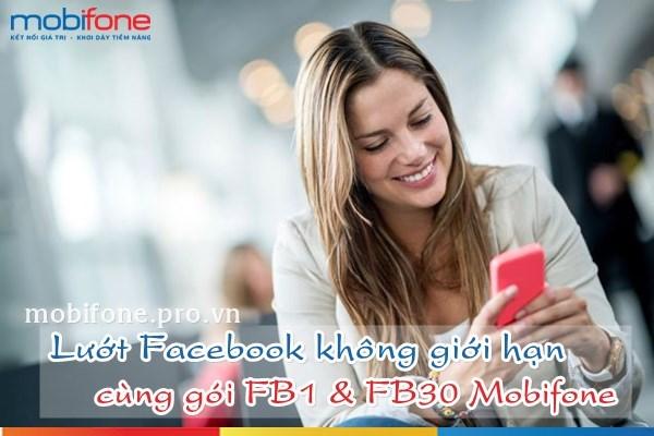 Đăng ký các gói 3G Facebook Mobifone lướt Facebook trọn gói