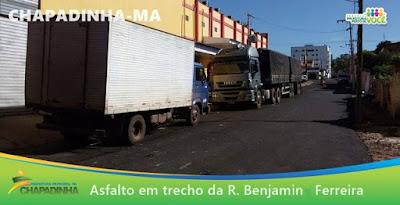 E o trabalho não para!! Tem mais ruas sendo asfaltadas em Chapadinha