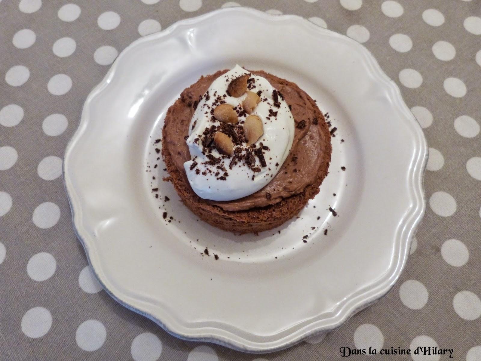 Angel cakes chocolat et beurre de cacahuète