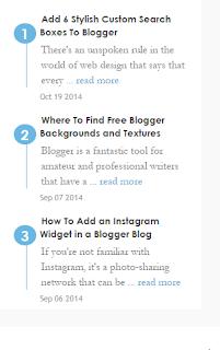 Tips Cara Mempercantik Blog Dengan Widget Artikel Terbaru/Recent Post Yang Elegan