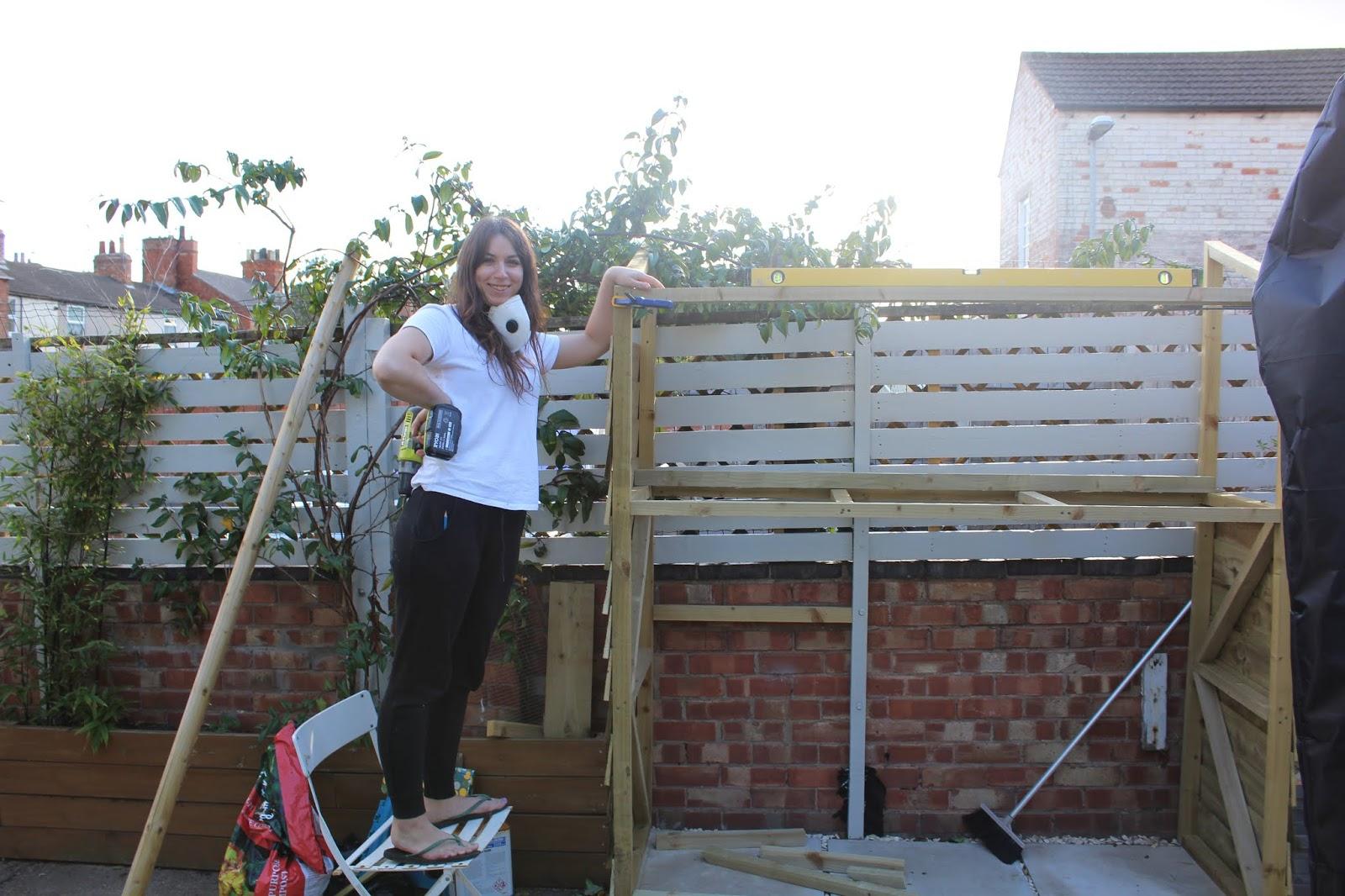 girl does DIY
