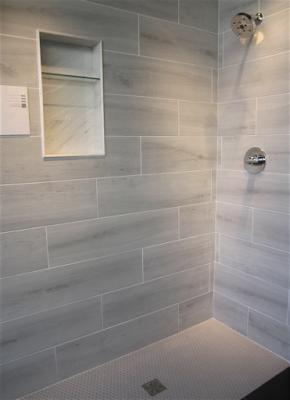 Light Grey Tile Shower The Tile Shop Design By Kirsty