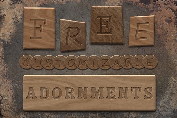 Free Customizable Text Adornments