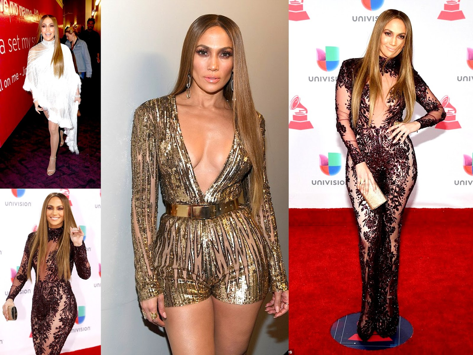 Chamber Of Beauty blog, Jennifer Lopez Looking Gorgeous in THREE beautiful outfits at the Latin Grammy Awards