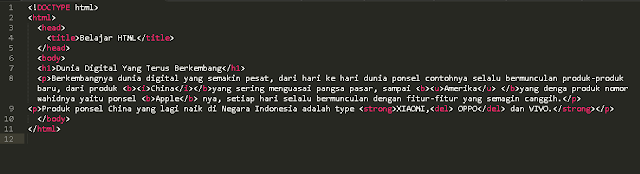 Cara Membuat Program HTML