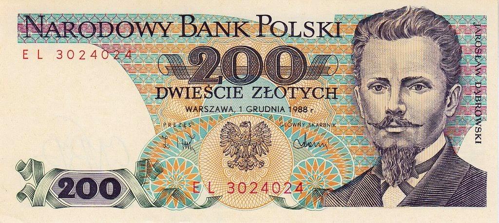 Poland Banknotes banknote 1988 Jaroslaw Dabrowski