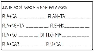 3 Atividades trabalhando sílabas complexas letra P
