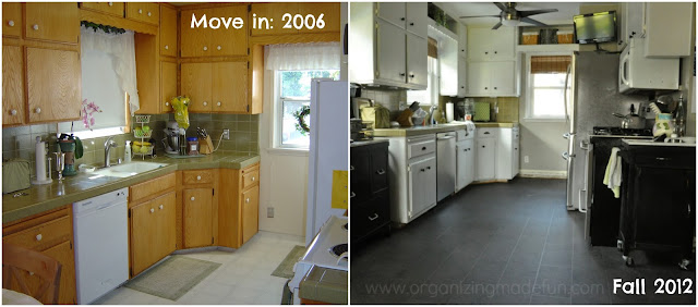 Before and After of kitchen in progress :: OrganizingMadeFun.com