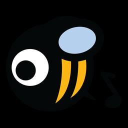 Music Bee Logo Folder Icon Music Bee Bee Emoji Logo Creativefolders