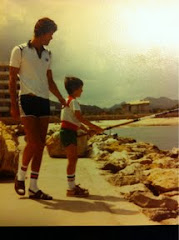 dad and me age 7 on hol