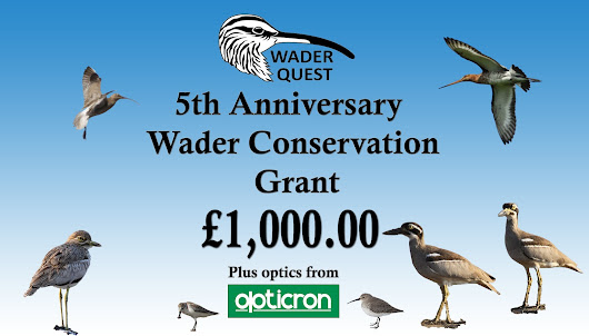 WADER QUEST £1,000 5TH ANNIVERSARY GRANT