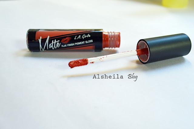 LA Girl Matte Lipstick shade fleur
