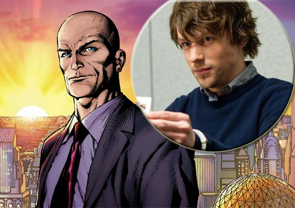 "Jesse Eisenber sera Lex Luthor  en ""Batman Vs. Superman"""