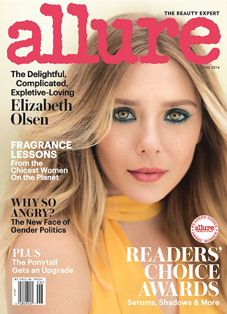 Actress, @ Elizabeth Olsen - Allure US June 2016