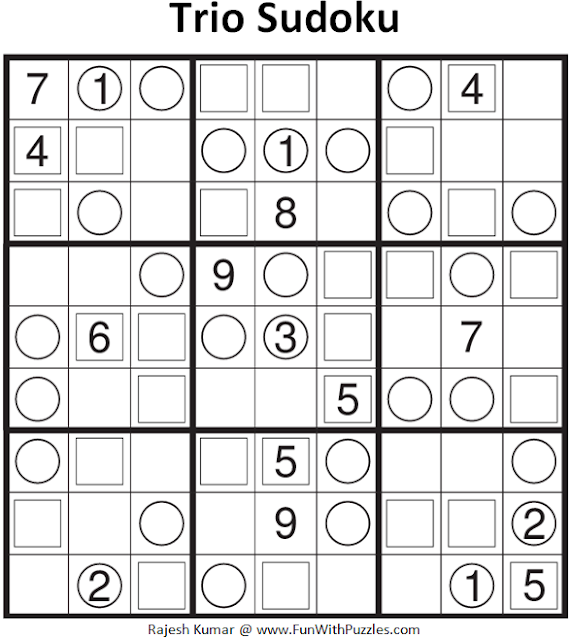 Trio Sudoku (Fun With Sudoku #102)