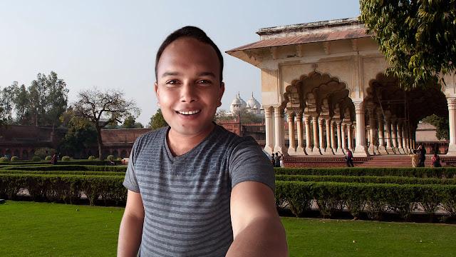 Mohit Kumar Yadav at Jahangiri Mahal Agra Fort