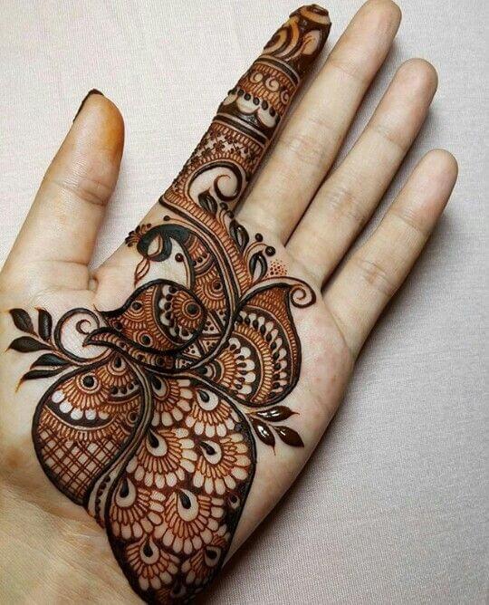 Mehndi For Left Hand Front : Simple mehndi design for left hand wedding bels bridal
