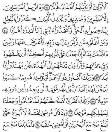 Tafsir Surat Al-kahfi Ayat 56, 57, 58, 59, 60