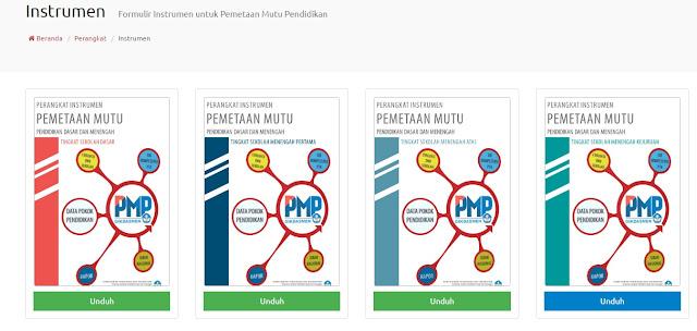 Donwload Intrumen PMP Jenjang SD,SMP,SMA dan SMK