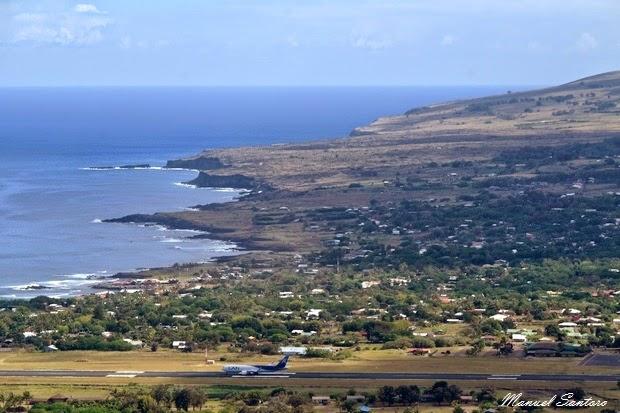 Isola di Pasqua, veduta dal Rano Kau