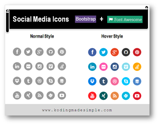 twitter-bootstrap-3-social-media-icons