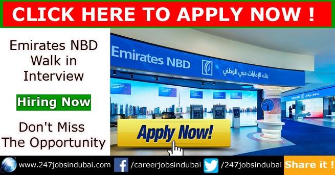 emirates nbd walk in interview