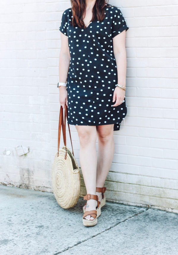 style on a budget, what to buy for spring, spring outfit ideas, north carolina blogger, polka dot dress, spring style, mom blogger