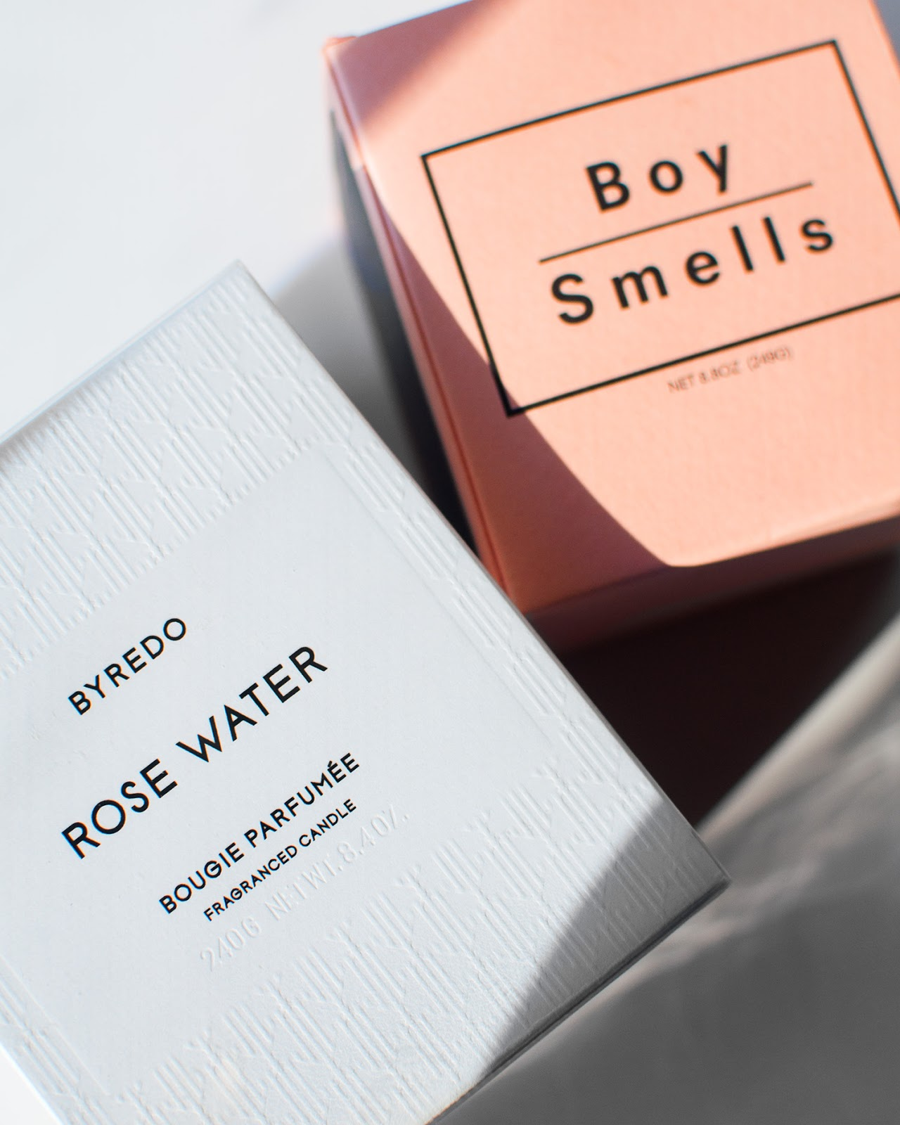 boy smells candle, byredo holiday candle 2017 , byredo rose water, boy smells candle