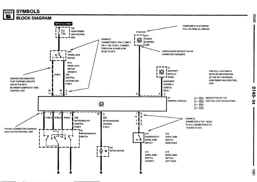 repair manuals bmw 735i 735il 750il 1991 electrical 1990 bmw 735i fuse box