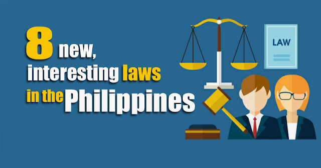 8 new laws in the Philippines