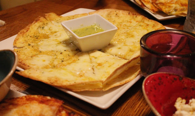 garlic bread side order at Chiquitos