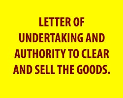 Write Letter of Undertaking And Authority