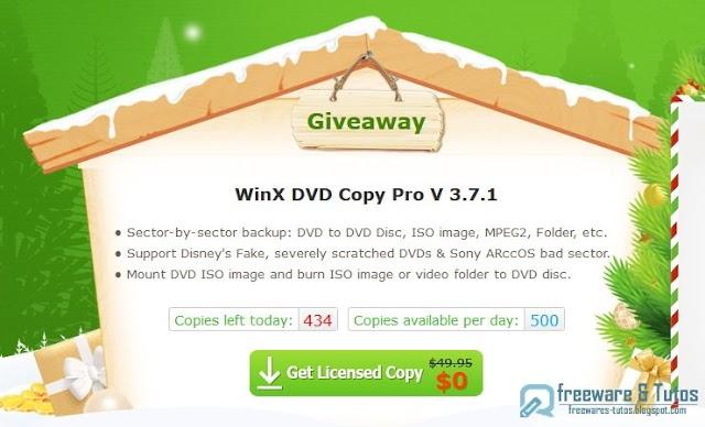 Offre promotionnelle : WinX DVD Copy Pro  3.7.1 gratuit !