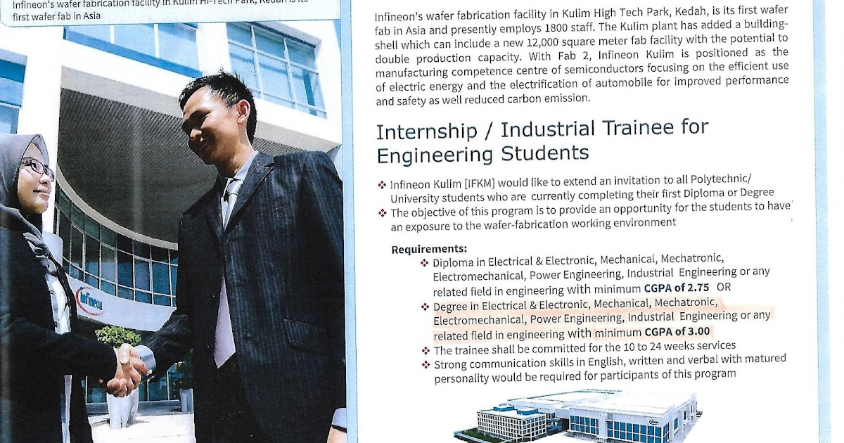 Engineering Industrial Training: INTERNSHIP AT INFINEON
