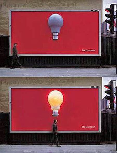 quảng cáo ngoài trời của đèn cảm ứng