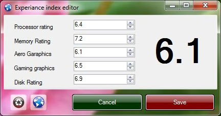 Experience Index Editor