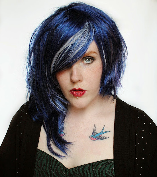 "black "" blue hairstyles"