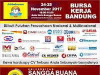 Bursa Kerja Bandung 24 November 2017, Dibuka GRATIS