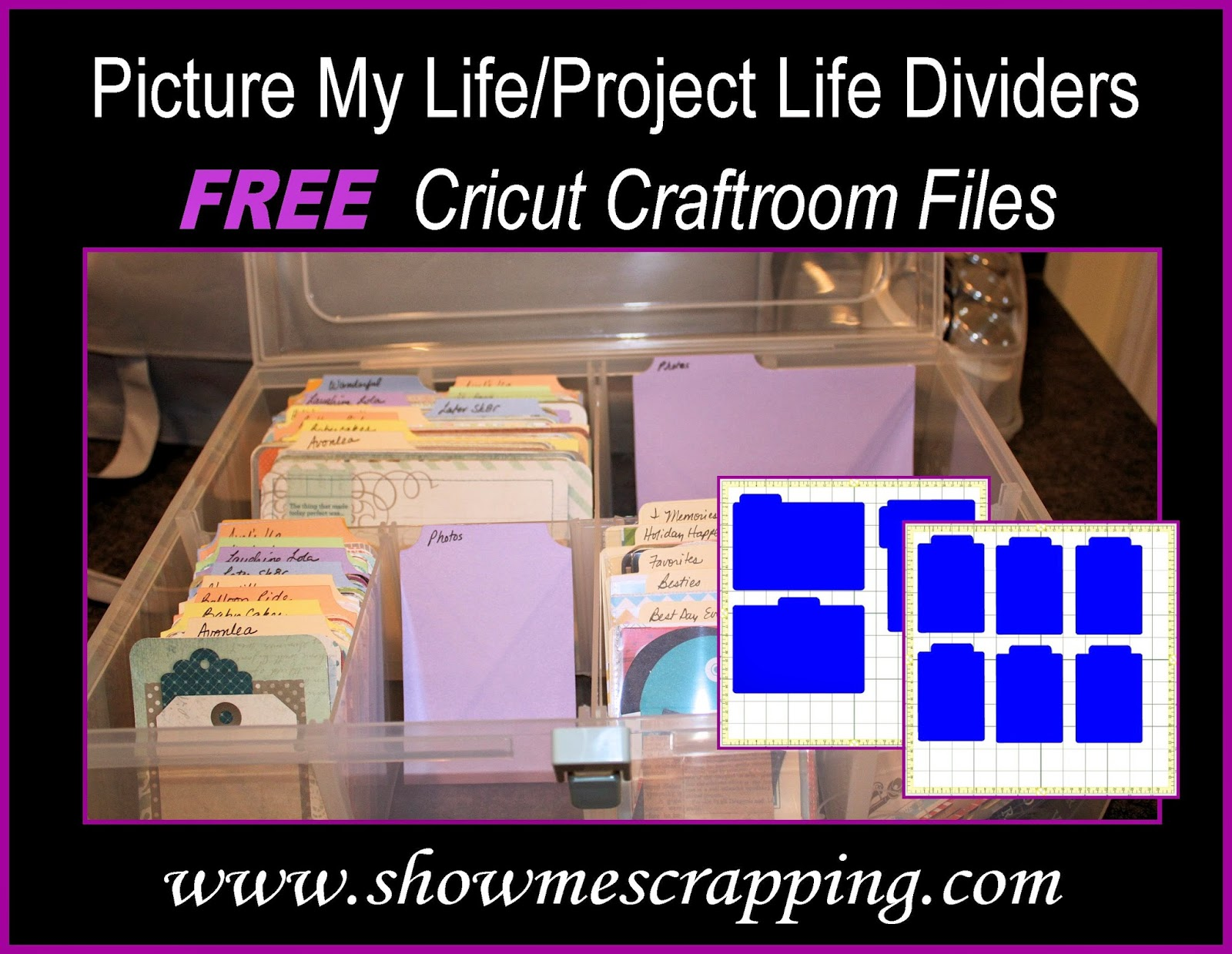 Free Cricut Craft Room: Show Me Scrapping Blog: Organize Your Picture My Life With