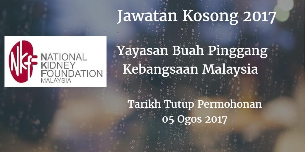 Jawatan Kosong NKF 05 Ogos 2017