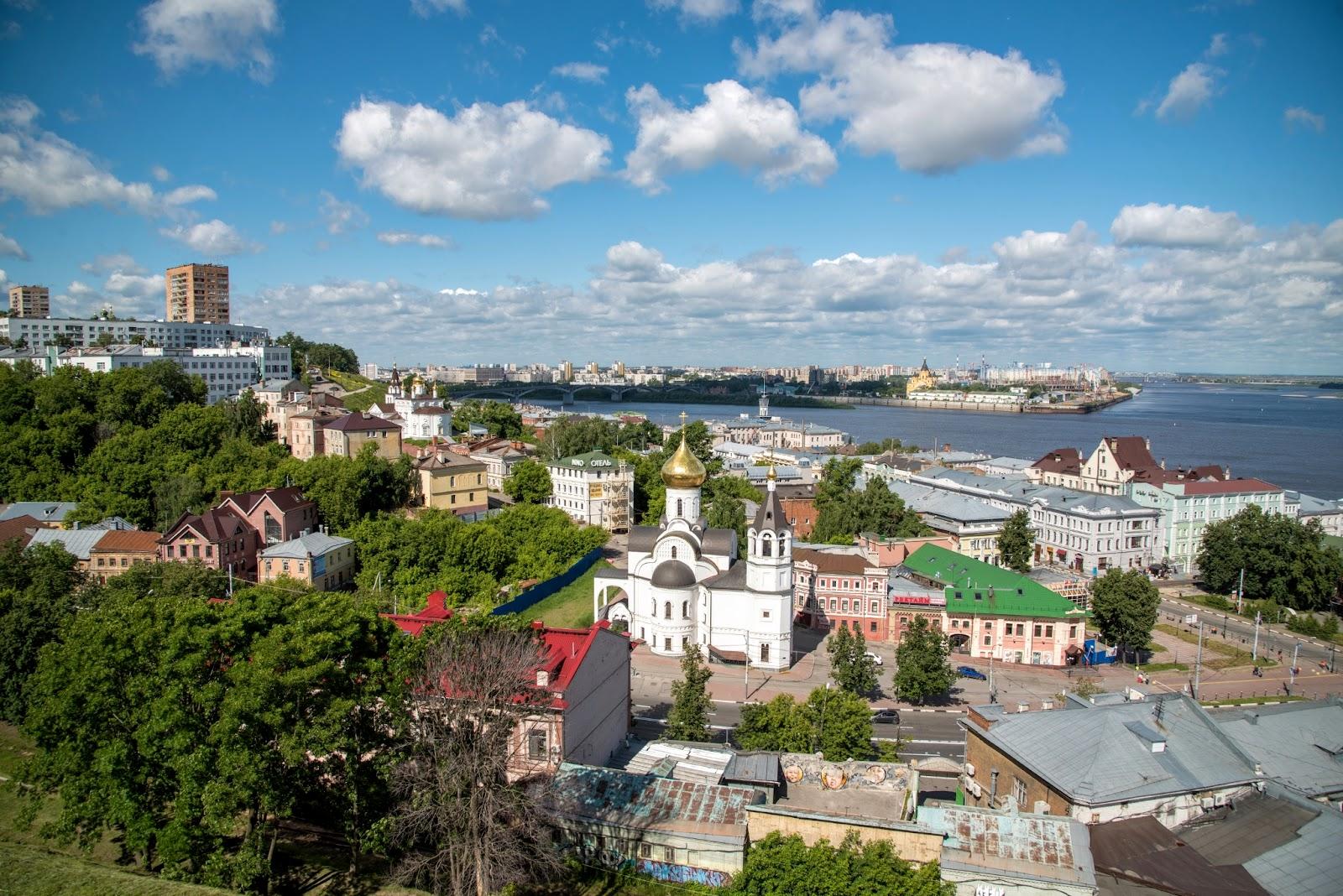 Вид на Нижний Новгород с высоты