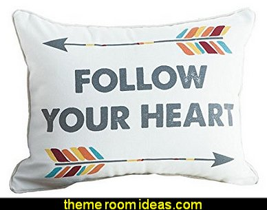 Follow Your Heart Arrow Pillow