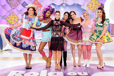 Patricia com as meninas do Rola ou Enrola? (Fotos Gabriel Cardoso)