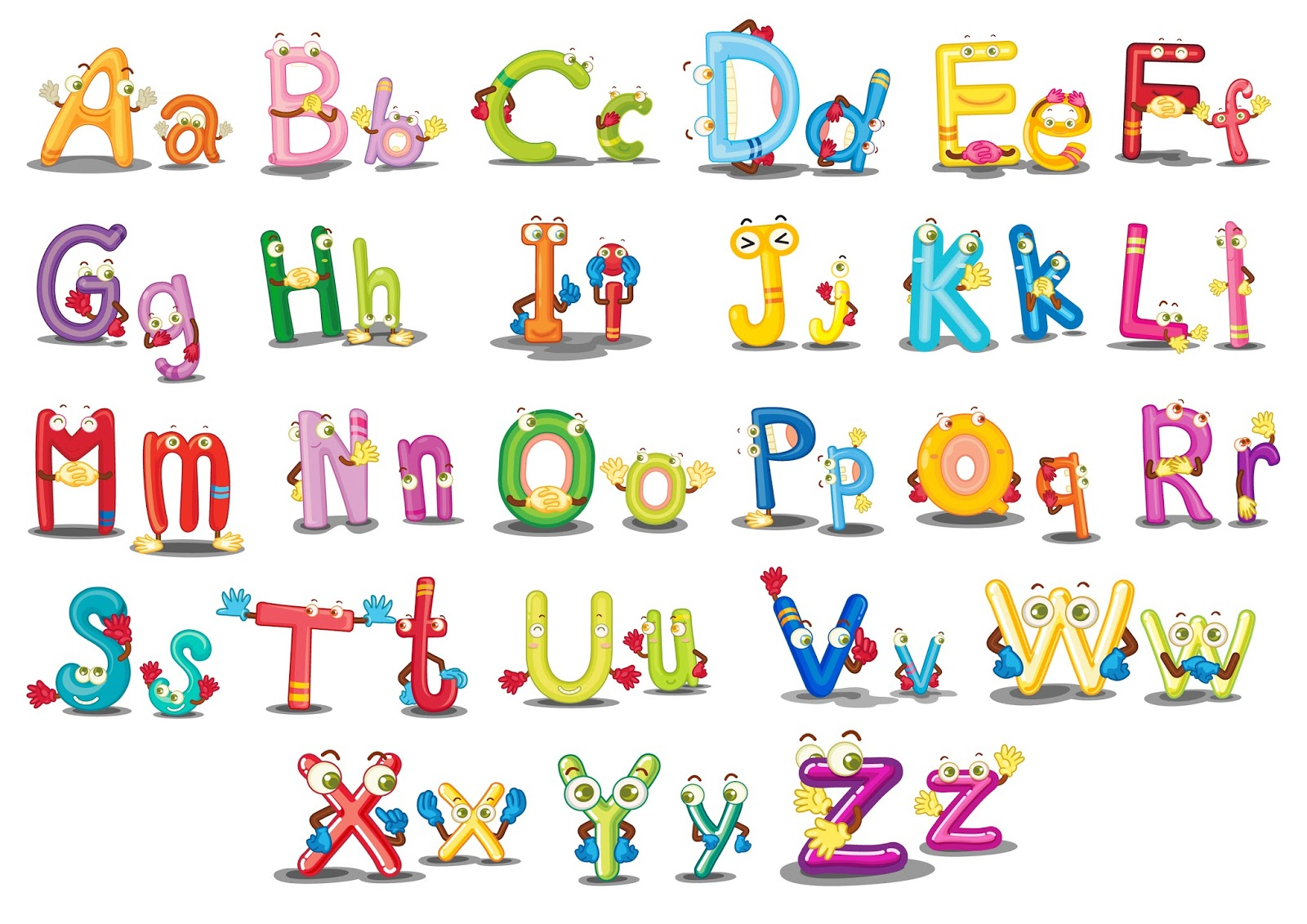 Disney style writing alphabet for kids