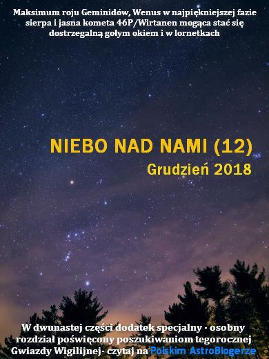 NIEBO NAD NAMI (12) - Grudzień 2018 - Przedświąteczne hity prosto z nieba: Geminidy, lśniąca Wenus i kometa 46P/Wirtanen - Przejdź do tekstu