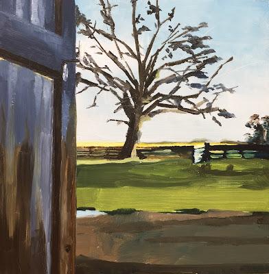 chestnut tree, daily painting by Philine van der Vegte